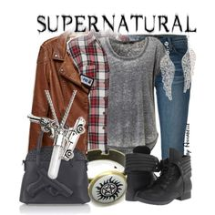 A fashion look from February 2014 featuring tee-shirt, sequin shirt and faux-leather jacket. Browse and shop related looks. Supernatural Inspired Outfits, Supernatural Fashion, Supernatural Quotes, Other Outfits, Outfits For Teens, Cute Outfits, School Outfits, Desire Clothing, Teen Fashion