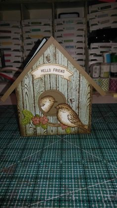 Best birds stampin up Bird Cards, Butterfly Cards, Homemade Birthday Cards, Homemade Cards, Card Making Inspiration, Making Ideas, Shaped Cards, Stamping Up Cards, Get Well Cards