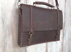Handmade Leather Messenger Bag, Unique Design Genuine Leather Shoulder Bag