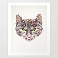 Broody Cat Art Print - Available on Broody, Cat Art, Art Prints, Cats, Illustration, Art Impressions, Gatos, Illustrations, Cat