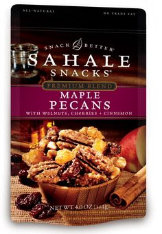 Maple Pecans with Walnuts, Cherries + Cinnamon  By Sahale Snacks - fair warning!  This is absolutely DIVINE and very ADDICTIVE!!!