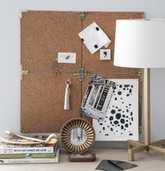 Give a steampunk or campaign furntiure look to an easy DIY corkboard for your wall.  Design*Sponge Campaign Corkboard DIY