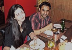 Sam & Lucky Dusani enjoying a meal at The Golconda Bowl Mumbai