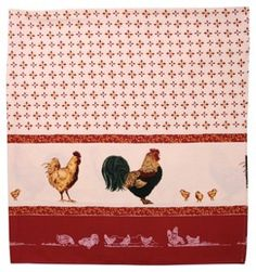 French Roosters Tablecloth