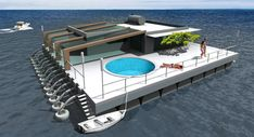 FLOATING house – ecologically clean process. Interior design.