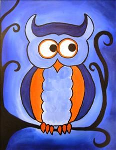 Family Time -Blue Hootsie - Sarasota, FL Painting Class - Painting with a Twist