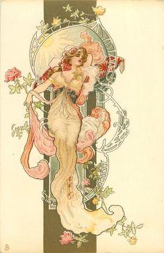 Ideas Art Deco Woman Illustration Alphonse Mucha For 2019 Motifs Art Nouveau, Art Nouveau Mucha, Design Art Nouveau, Alphonse Mucha Art, Art Nouveau Poster, Poster Art, Poster Prints, Art Nouveau Tattoo, Art And Illustration