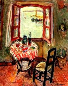 Charles Camoin exhibition poster - The open window - vintage print - French expressionist landscape painter - fauve fauves - still life Window Poster, Window Art, Open Window, Art Fauvisme, Maurice De Vlaminck, Art Aquarelle, Exhibition Poster, Windows, Henri Matisse