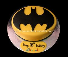 Batman Cake...powder sugar stencil