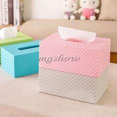 Plastic Home Office Car Hotel Tissue Box Paper Napkin Holder Storage Case Cover