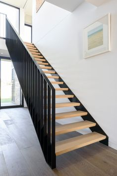 Campbells Road S&A Stairs Modern Staircase Campbells Road Stairs Staircase Outdoor, Modern Stair Railing, Timber Staircase, House Staircase, Modern Stairs, Staircase Design, Steel Stair Railing, Staircases, Shed Interior