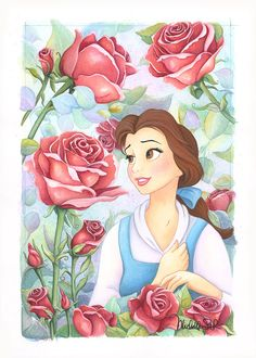Original Belle watercolor on paper                                                                                                                                                      More