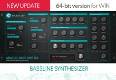 EDM bassline synthesizer plug-in VSTi - Analog Bass Unit from Electronic Music, Dance Music, Edm, Plugs, Bass, The Unit, Digital, Free, Corks