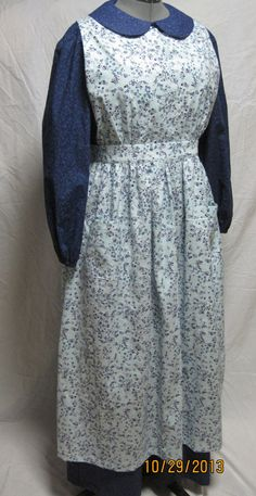 Woman's Large Prairie Dress Apron and Bonnet by jlangton on Etsy, $85.00
