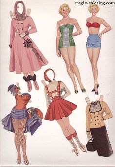 MAGIC-COLORING | Doris Day Paper Dolls3 * 1500 free paper dolls Arielle Gabriel's The International Paper Doll Society #QuanYin5 Twitter QuanYin5 Linked In #ArtrA *