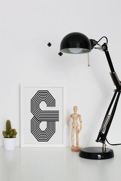 Ampersand & And Printable Wall Art  Typographic by VisualPixie