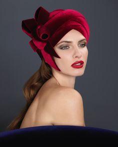 OC 781 | Philip Treacy Londyn Kensington And Chelsea, Fallen London, Philip Treacy, Hat Hairstyles, Hair Ornaments, Red Hats, Turban, Fascinator, Ready To Wear