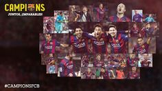 FC Barcelona - League Champions Together, unstoppable! Barcelona Futbol Club, Barcelona Football, Fc Barcelona Twitter, Lionel Messi, Camp Hero, Fc Barcelona Wallpapers, David Villa, Catalan Independence, World Cup 2014