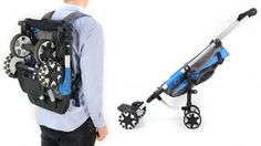 OmniO Rider is a fold-able stroller/ pram that can be collapsed very quickly and worn like a backpack. It is useful for walking your little ones for long distances and then putting them on the