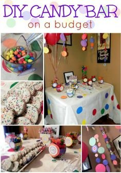 Diy candy buffet easy inexpensive party candy bar diy candy buffet id Diy Party, Party Gifts, Party Ideas, Party Hacks, Neon Party, Diy Ideas, Craft Ideas, Sweet 16 Birthday, Birthday Fun