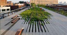 La High Line a New York (jardin suspendu réalisé sur une ancienne voir de chemin de fer) Expo – La Ville Fertile ou le mythe de la Nature Urbaine.