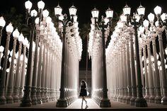 Urban Lights Exhibit - LA County Museum of Art - Jan 2014