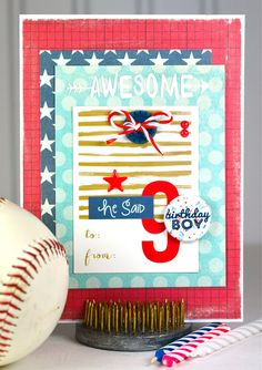 Boys 9th Birthday Card using @paperissuesteam Swag Bags and items from my stash. @lilgik #feedyourcraft