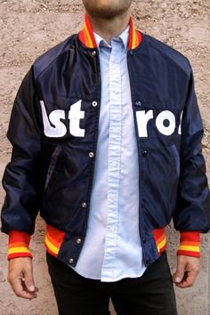 Vintage HOUSTON ASTROS STARTER JACKET Coat MLB Baseball MINT Sz:S ...