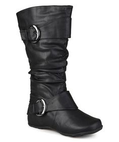 Another great find on #zulily! Black Paris Extra Wide-Calf Boot #zulilyfinds extra wide calf boots for women, check to see different sizes, colour and designs.