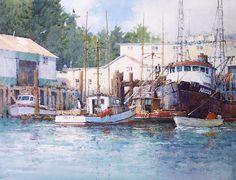 "Cottesmore, Rutland, England watercolor 12"" x 16"" SOLD Inner Harbor, Sitka Alaska watercolor 12"" x 16"" SOLD Rush Hour ..."