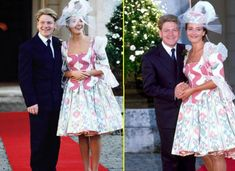 The 1989 marriage of Emma Thompson and Kenneth Branagh was a legendary union of highly respected British actors. Unfortunately, Thompson's dress failed to impress. For some reason, she had the idea to make a dirndl-inspired gown from curtains, and the result may be interesting, but it's definitely not a wedding gown!