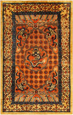 Antique Chinese Metallic Silk Rug 48130 Main Image - By Nazmiyal