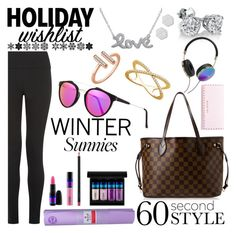 Holiday Wishlist by mlgjewelry on Polyvore featuring Louis Vuitton, Ted Baker, Amanda Rose Collection, RetroSuperFuture, Frends, MAC Cosmetics and lululemon