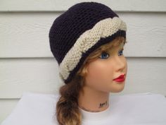 Ready to ship  Very cute beanie Great accessory for any time of the year, Warm and elegant This hat will fit most teens and adults  Its hand knitted