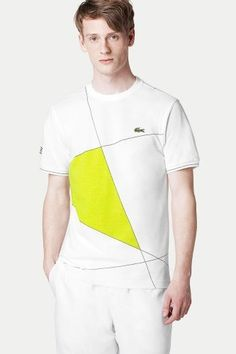 Geometric print t-shirt from Lacoste--must make one or me! Great color block.