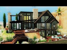sims 4 houses keep disappearing sims 4 houses sulani Sims 4 Modern House, Sims 4 House Design, Modern House Design, Sims 3 Houses Plans, House Plans, Sims 3 Houses Ideas, Lotes The Sims 4, Sims Cc, Sims 4 House Building