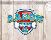 Print-It-Yourself (Digital Copy) Customised Paw Patrol Logo or Badge (Paw Patrol Inspired)**No physical item will be shipped.