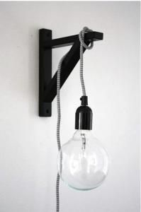NUD Classic Pendant : Remodelista  I think the bracket is from ikea...