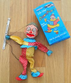 VINTAGE CLOWN PUPPET ~ SOLD ON MY EBAY SITE LUBBYDOT1