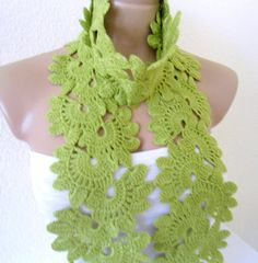 Apple green, Lace Neckwarmer,scarf, fashion,gift, valentine, valentines day, winter trends, fashion, 2014