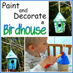 A birdhouse is a beautiful addition to your backyard and fun for kids to design!