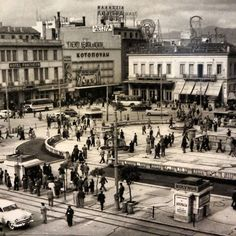 1955 ~ Omonia square, Athens