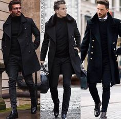 All black ensembles gents fashion, best mens fashion, work fashion, fashion Gents Fashion, Best Mens Fashion, Suit Fashion, Work Fashion, Mode Man, Mode Costume, Business Mode, Stylish Mens Outfits, Herren Outfit