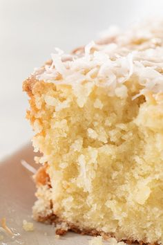 This coconut loaf cake is full of buttery, coconut flavor! It's easy to make and has a 3 ingredient homemade coconut glaze poured over the top. The perfect recipe for spring! Cake Recipes, Snack Recipes, Dessert Recipes, Easter Recipes, Bread Recipes, Sweet Recipes, Cooking Recipes, Coconut Loaf Cake, Recipe For Coconut Cake