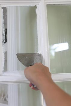 a Pane best way to clean paint off glass-- easy!best way to clean paint off glass-- easy! Painted Window Panes, Window Frames, Painted Doors, French Door Windows, Glass French Doors, Diy Windows, Scrape Painting, Painting Tips, Remove Paint From Glass