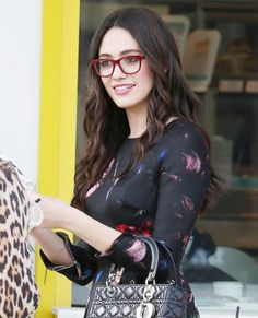 Eye Spy: Celebrities Wearing Stylish Specs - Emmy Rossum