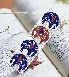 Embroidery Or Knitting Stitch Like A Knot Crossword Clue : Creative Needlecraft DIY Kit Cross-stitch Kit Book Mark Elephant Pattern Poin...