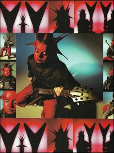 Mudvayne Greg Tribbett Gibson Flying V Guitar 8 x 11 color pin-up photo Nu Metal, Heavy Metal, Chad Gray, Gibson Flying V, Guitar Magazine, Pin Up Photos, Marvin The Martian, Japanese Books, Famous Singers