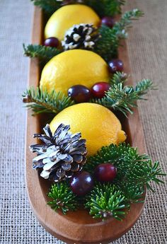 With a few simple supplies you can put together the most simple and pretty Christmas Centrepiece! With a few simple su All Things Christmas, Winter Christmas, Christmas Holidays, Natural Christmas, Simple Christmas, Christmas Christmas, Christmas Wedding Centerpieces, Xmas Decorations, Holiday Crafts
