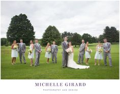 June Wedding at the Country Club of Pittsfield in Massachusetts :: Berkshire Wedding :: Photo go the whole wedding party with the bride and groom :: Michelle Girard Photography and Design